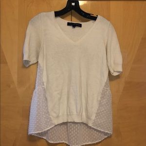French Connection Cream Top with side details XS